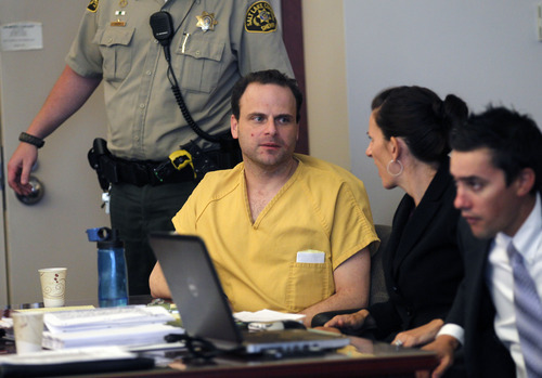 Al Hartmann     The Salt Lake Tribune   GOP activist Greg Peterson who is accused of multiple date-rapes appears with his defense lawyers Cara Tangaro and Gerald Salcido during the second day of a preliminary hearing in Third District Court in Salt Lake City Wednesday August 15.
