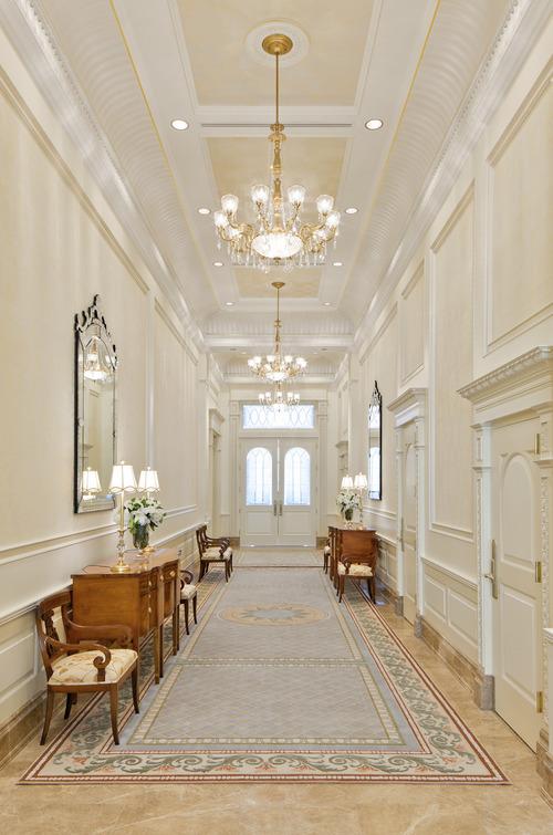 Grand hallway in the Brigham City Utah Temple. Courtesy LDS Newsroom