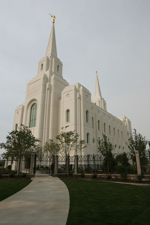 Francisco Kjolseth     The Salt Lake Tribune The Church of Jesus Christ of Latter-day Saints 14th temple in Utah will soon open its doors to tours followed by the formal dedication of the Brigham City Temple on Sunday, September 23, 2012.