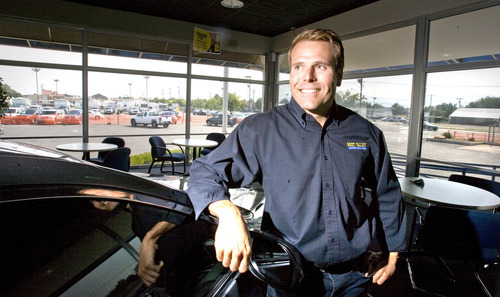 Paul Fraughton | Salt Lake Tribune Nick Markosian, owner of West Valley Auto Plaza in West Valley City, stands in the showroom of his business that will be moving half a mile down Redwood Road to a new location in Taylorsville.  Thursday, August 16, 2012
