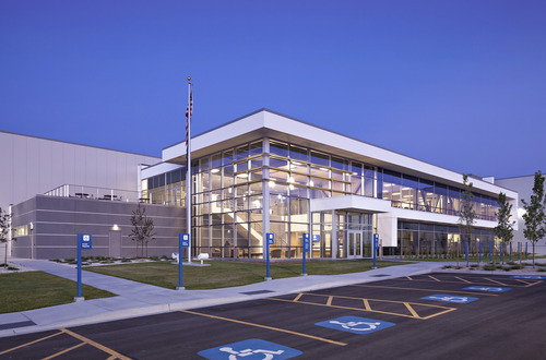 LDS Bishops Central Storehouse in Salt Lake City, designed by HKS Architects. Courtesy HKS Architects