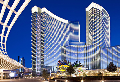 The MGM City Center in Las Vegas, Nev., designed by Pelli Clark Pelli and HKS Architects. Courtesy HKS Architects