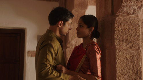 Riz Ahmed (left) and Freida Pinto star in