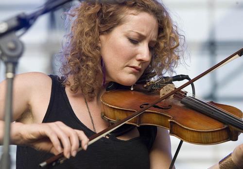 Paul Fraughton | Salt Lake Tribune Kathleen Edwards performs at the seventh Twilight Concert of the season at Pioneer Park.  Thursday, August 16, 2012