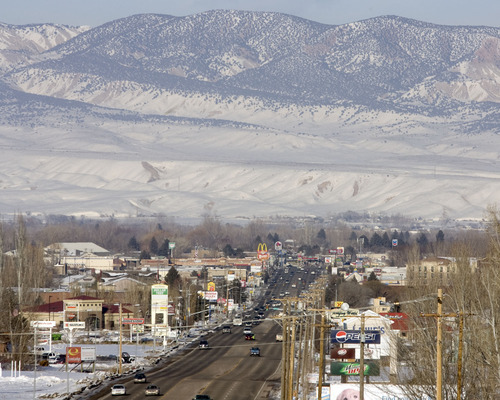 Tribune file photo During the winter months, the eastern Utah's Unita Basin  -- with its population center in Vernal --  has some of the highest ozone readings in the United States.