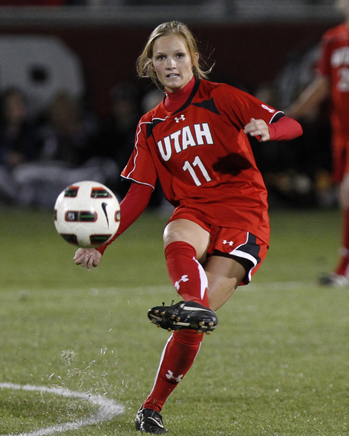 Avery Ford, University of Utah Soccer vs. USC Oct. 28, 2011 in Salt Lake City.  (Photo/Steve C. Wilson)
