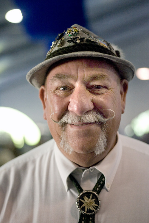 Kim Raff | The Salt Lake Tribune Don Schrader poses for a portrait during Snowbird's 40th annual Oktoberfest Celebration at Snowbird Ski Resort  on August 18, 2012.