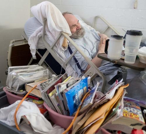 Trent Nelson  |  The Salt Lake Tribune Inmate Kent Larson, housed in the infirmary of the Utah State Prison in Draper, Utah Wednesday, August 8, 2012.