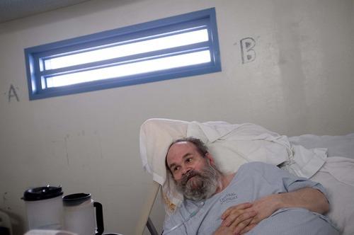 Trent Nelson  |  The Salt Lake Tribune Inmate Kent Shurtleff Larson, housed in the infirmary of the Utah State Prison in Draper, Utah Wednesday, August 8, 2012.