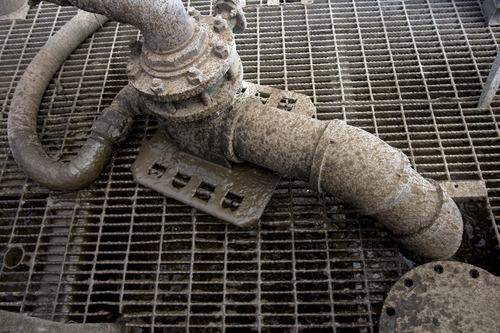 Kim Raff | The Salt Lake Tribune A pipe dispenses