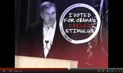 Screen shot of an ad opposing Rep. Jim Matheson is paid for by the National Republican Congressional Committee and it ran in March. The NRCC plans an extensive ad campaign in Utah this fall. Courtesy YouTube