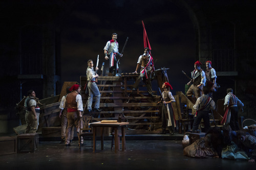 A scene from the Utah Shakespeare Festival's 2012 production of Les Misérables. (Photo by Karl Hugh. Copyright Utah Shakespeare Festival 2012.)