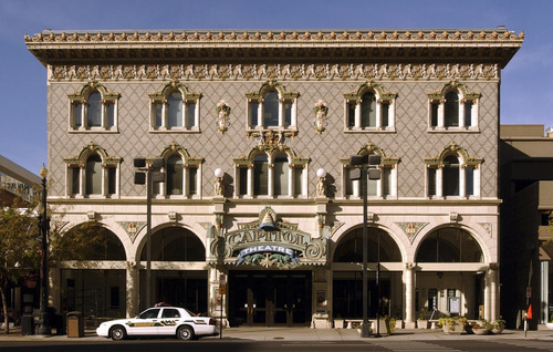 Tribune file photo The Capitol Theatre in Downtown Salt Lake City.