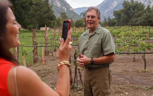 Trent Nelson  |  The Salt Lake Tribune  The grounds of Sandy's La Caille have gotten a makeover. Its vineyard is now under the care of winemaker Michael Knight.