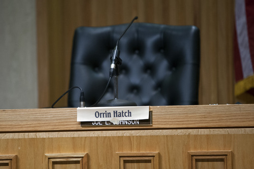 Chris Detrick  |  The Salt Lake Tribune Orrin Hatch did not show up for a Senate debate at Bountiful City Council Chambers Tuesday August 21, 2012.