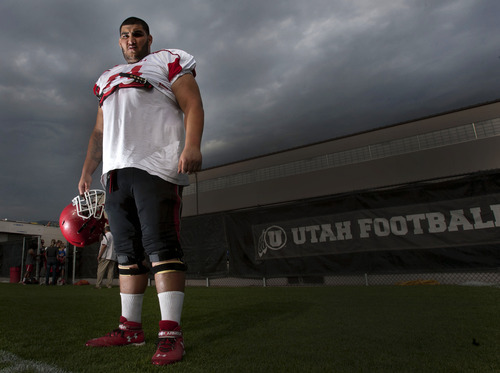 Steve Griffin | The Salt Lake Tribune Ute offensive lineman Carlos Lozano is the largest player out of all the rosters of the prominent teams in Utah.