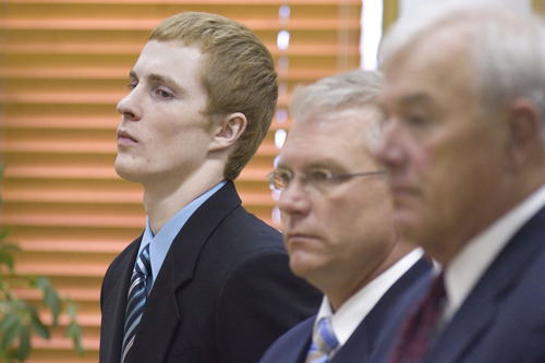 Kody Cree Patten listens during his sentencing, Friday, Aug. 24, 2012, in Elko District Court, Elko, Nev. Patten, who pleaded guilty to first-degree murder in the 2011 killing of a West Wendover High School classmate, was sentenced to  life in prison without the possibility of parole. (AP Photo/Elko Daily Free Press, Ross Andreson)