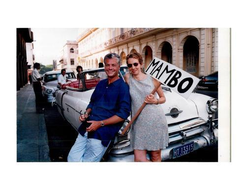 Courtesy photo Michael Barrett and Jamie Bernstein on tour in Havana in 2001 with their concert for children,