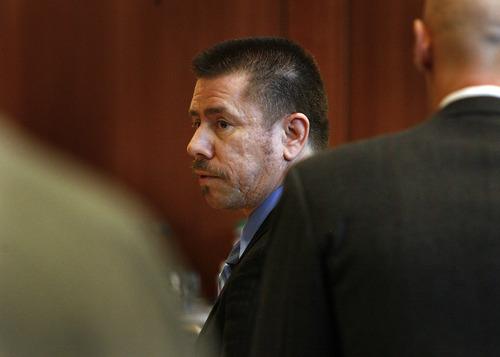 Scott Sommerdorf  |  The Salt Lake Tribune              Roberto Miramontes Román in court, Friday, August 17, 2012. An eight-person jury acquitted Román of murder in the shooting death of Millard County Deputy Josie Greathouse Fox.