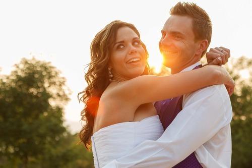 Trent Nelson  |  The Salt Lake Tribune Jen Comer dances with her husband, Daniel Comer, at their wedding reception in Huntsville, Utah, Aug. 18, 2012.
