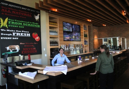 Rick Egan  | The Salt Lake Tribune    ParkStone Wood Kitchen has opened at Station Park in Farmington. Station Park is located at the intersection of Interstate 15, Highway 89 and Legacy Parkway, and the Front Runner Commuter Train in Farmington.   Saturday, August 25, 2012.