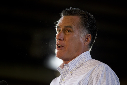 Republican presidential candidate, former Massachusetts Gov. Mitt Romney speaks during a campaign stop at LeClaire Manufacturing on Wednesday, Aug. 22, 2012 in Midland, Texas.  (AP Photo/Evan Vucci)