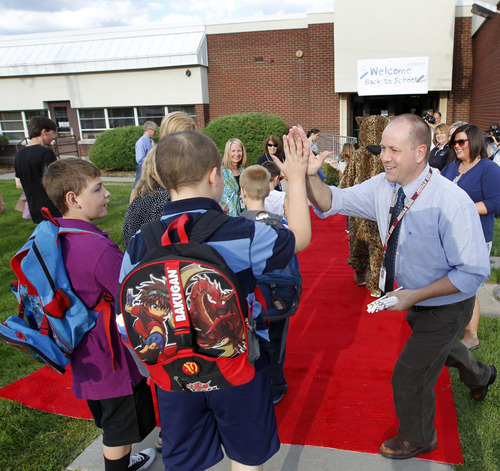 Al Hartmann  |  The Salt Lake Tribune Canyon School District's David Shirley gives a