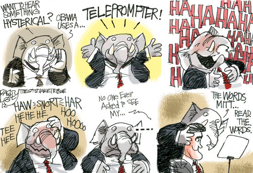 This Pat Bagley editorial cartoon appears in The Salt Lake Tribune on Wednesday, Aug. 29, 2012.