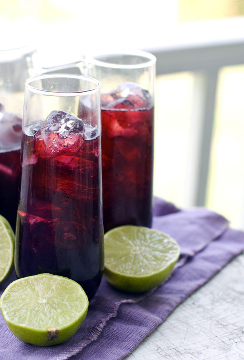Glasses of red wrong-way sangria. (AP Photo/Matthew Mead)