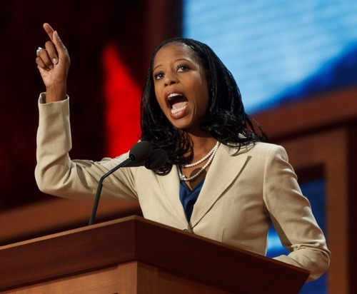 Trent Nelson  |  The Salt Lake Tribune Utah congressional candidate Mia Love criticized President Barack Obama during her speech Tuesday at Republican National Convention for dividing America.