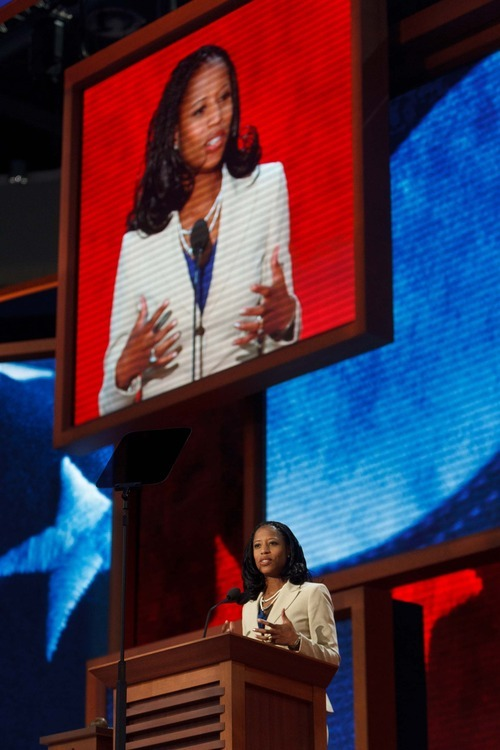 Trent Nelson  |  The Salt Lake Tribune Utah congressional candidate Mia Love got rousing applause during her Tuesday night speech at the Republican National Convention that began with a video biography of the Saratoga Springs mayor.