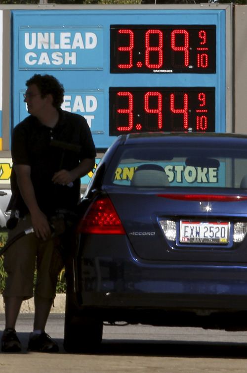 (AP Photo/Tony Dejak) Some states in the Midwest are seeing dramatic spikes in gas prices, with costs in Ohio  jumping 14 cents in the past week.