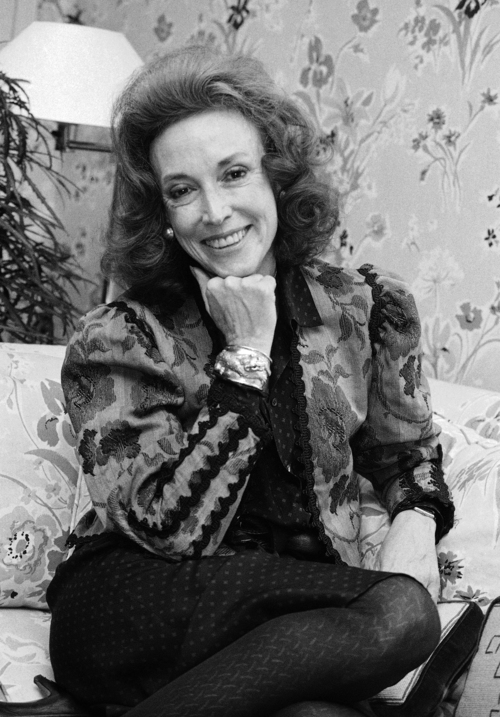 FILE - This Sept. 20, 2982 file photo shows Cosmopolitan editor Helen Gurley Brown is shown during an interview at her office in New York. Brown, longtime editor of Cosmopolitan magazine, died Monday, Aug. 13, 2012 at a hospital in New York after a brief hospitalization. She was 90. (AP Photo/Marty Lederhandler, file)