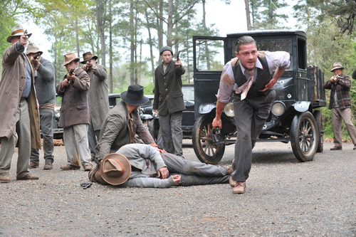 This film image released by The Weinstein Company shows Shia LaBeouf, right, in a scene from
