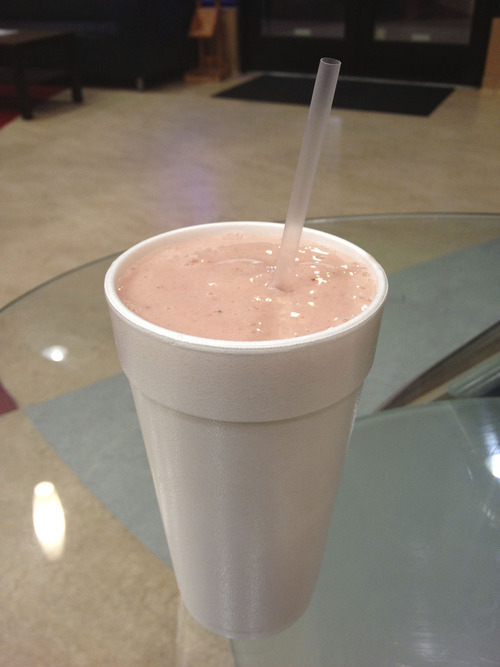 Vince Horiuchi  |  The Salt Lake Tribune A strawberry banana smoothie from Planet Yogurt in Sandy.