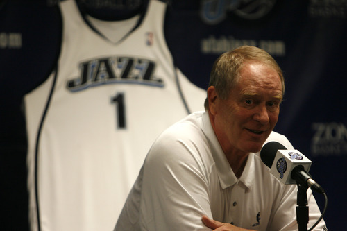 Chris Detrick  |  The Salt Lake Tribune  Jazz general manager Kevin O'Connor talks to the press during the NBA draft at the Jazz practice facility on June 26, 2008.