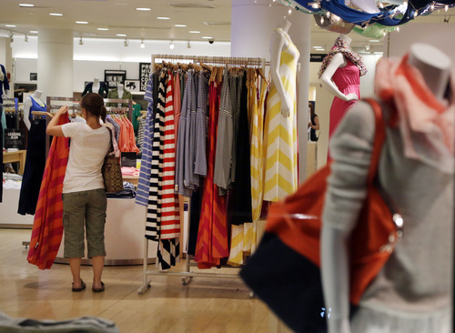 Elise Amendola  |  The Associated Press Some retailers are coping by adding styles that will go on the racks in early September. Adrienne Tennant, an analyst with Janney Capital Markets, said Abercrombie & Fitch, Old Navy and American Eagle Outfitters had extended sales to attract later shoppers.