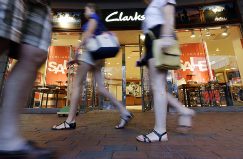 (AP Photo/Elise Amendola) Older kids, especially, seem to be waiting until after Labor Day, most likely so they can see what their friends are wearing, said Cathy Beaudoin, president of fashion for Amazon.