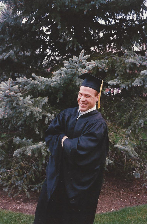 Joseph Berg at his graduation from BYU in 1989. Courtesy photo