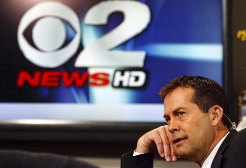 Trent Nelson  |  The Salt Lake Tribune Anchor Ron Bird broadcasting 2News at Noon at the KUTV studio on Main Street on Tuesday, Nov. 30, 2010. During the November sweeps, KUTV was No. 1 nearly across the board, but this is not a recent phenomenon.