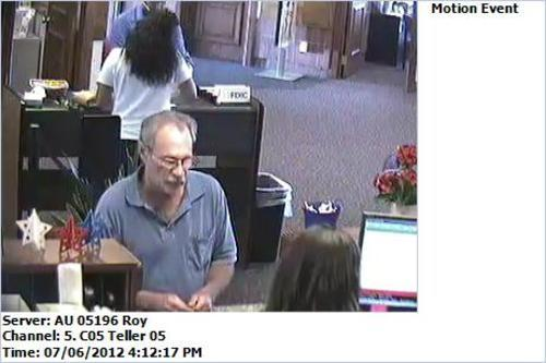 Courtesy photo Roy police are looking for a man who walked into the Wells Fargo Bank in Roy located at 5600 S. 1900 West at 4:30 p.m. on July 6 and handed the teller a threatening note indicating that he had four months to live and needed money.
