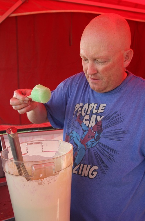 Rick Egan  | The Salt Lake Tribune   Jon Searle, known at the Utah State Fair as the