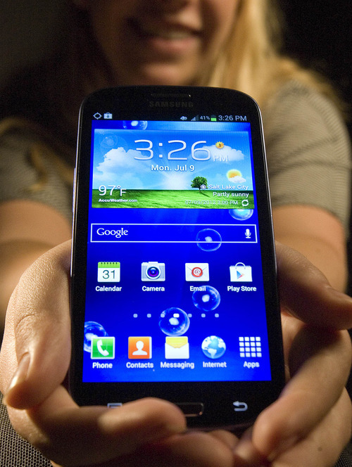 Paul Fraughton | The Salt Lake Tribune The Samsung Gallaxy S III smart phone, released in Utah in July 2012, is one of the newer, better Android phones available, giving Apple fierce competition in the mobile phone space.
