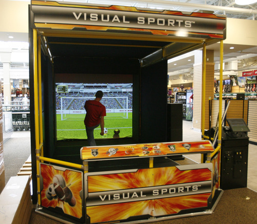 Rick Egan  | The Salt Lake Tribune   A sports game inside the Scheels sporting goods store in Sandy.  Thursday, September 6, 2012.