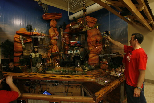 Rick Egan  | The Salt Lake Tribune   A shooting range in the Scheels sporting goods store in Sandy.  Thursday, September 6, 2012.