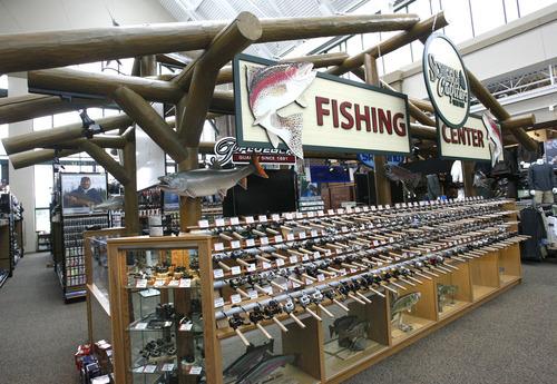 Rick Egan  | The Salt Lake Tribune   FIshing gear in the Scheels sporting goods store in Sandy.  Thursday, September 6, 2012.