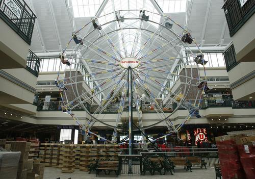 Rick Egan  | The Salt Lake Tribune   A Ferris wheel inside Scheels sporting goods store in Sandy.  Thursday, September 6, 2012.