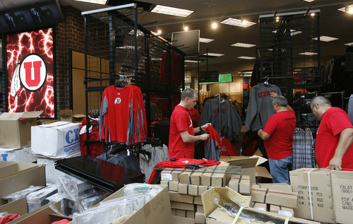 Rick Egan  | The Salt Lake Tribune   The sportswear department inside the new Scheels sporting goods store in Sandy, Thursday, September 6, 2012.