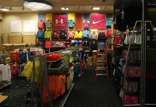 Rick Egan  | The Salt Lake Tribune   The kids department inside the new Scheels sporting goods store in Sandy, Thursday, September 6, 2012.