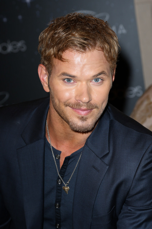 This image released by Starpix shows actor Kellan Lutz during a Fashion's Night Out event at Bloomingdale's, Thursday, Sept. 6, 2012 kicking off Fashion Week in New York. (AP Photo/Starpix, Andrew Toth)